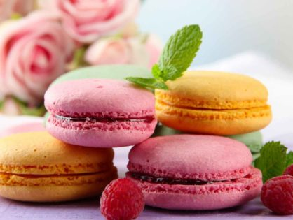 Французское миндальное пирожное-печенье макарон